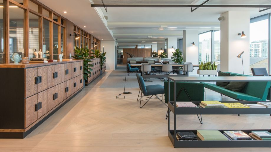 Large stylish co-working area for TOG members at TOG building at 20 Eastbourne Terrace London Paddington