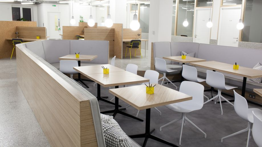 Stylish co-working space at TOG building at 2 Angel Square London