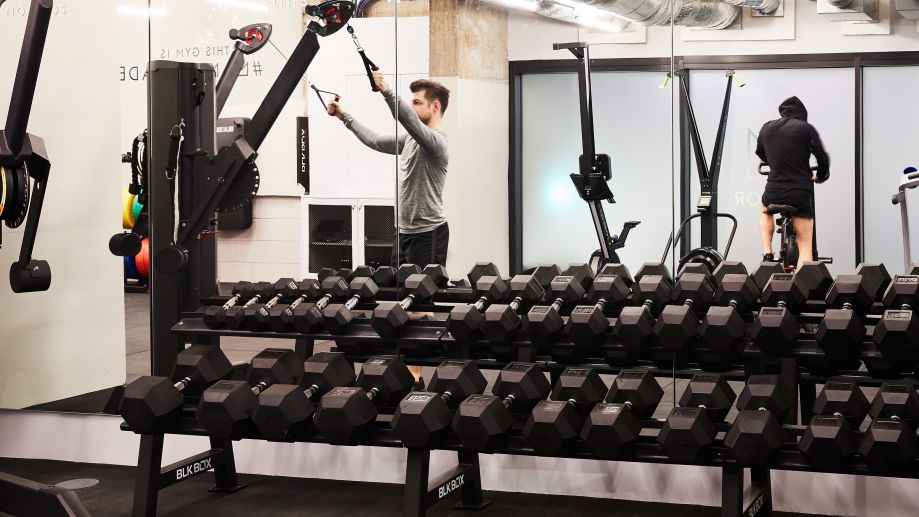 Manor Gym workout space with state-of-the-art equipment at One Lyric Square.