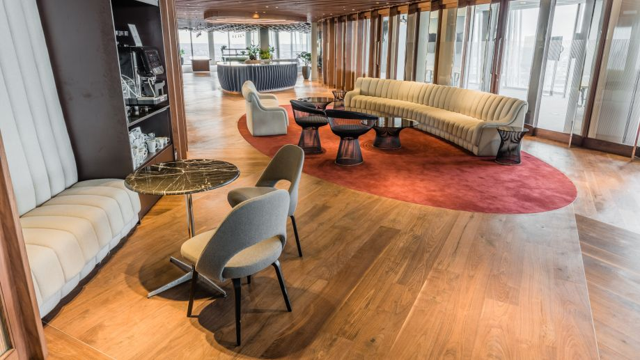 Luxurious lounge space with stunning views at TOG building 24/25 The Shard London