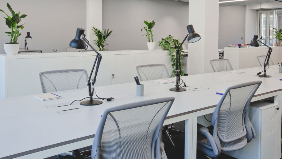 Clean bright office at TOG building at 2 Stephen Street London